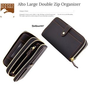 Dooney & Bourke Alto Double ZIP Wallet Clutch🎁👛
